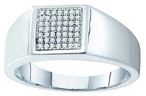 BrianG 10k WHITE GOLD 0.15CTW DIAMOND MICRO PAVE MENS RING