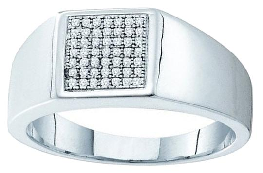 Other BrianG 10k WHITE GOLD 0.15CTW DIAMOND MICRO PAVE MENS RING