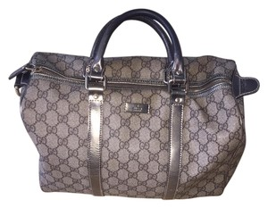 Gucci Monogram Tote in silver, grey