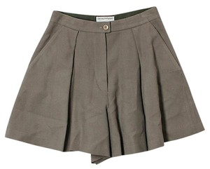 Emporio Armani Wool High Rise Dress Shorts Brown