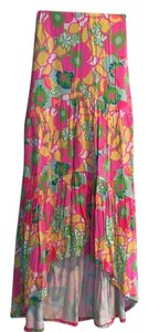 Lilly Pulitzer Maxi Skirt Pink, green, yellow, blue, white
