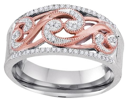 Other BrianG 10K WHITE GOLD ROSE GOLD 0.18 CTTW DIAMOND FASHION RING
