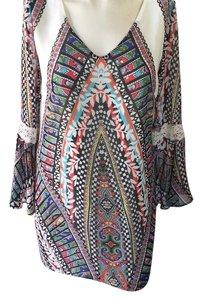 Pink Owl short dress Multi-Blk/Red/Blue/Grn/Ylw on Tradesy
