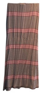 Max Studio Maxi Skirt Brown, white, red