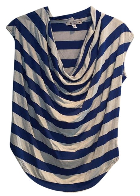 Item - Blue and White Tee Shirt Size 4 (S)
