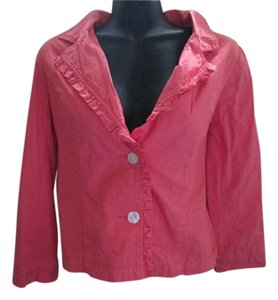 Anthropologie Odille Coral Coral Pink Blazer