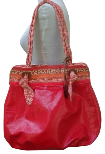 Item - Key Per Color Handbag/Tote Tangerine Coated Canvas Shoulder Bag