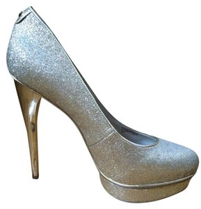 Michael Kors Special Occasion Sparkle Glitter Gold Pumps