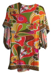 Trina Turk short dress Olive, tangerine, yellow, pink on Tradesy