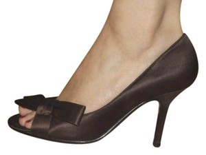 Caparros Wedding Bridesmaid Brown Satin Pumps