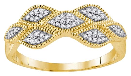 Other BrianG LADIES 10K YELLOW GOLD 0.10 CTTW DIAMOND FASHION BAND