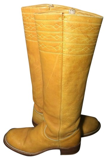 Preload https://img-static.tradesy.com/item/16375288/frye-yellow-black-label-campus-vintage-70-s-stitching-horse-banana-leather-women-s-bootsbooties-size-0-1-540-540.jpg