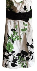 Speechless short dress White, black and green on Tradesy