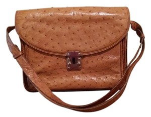 T. Anthony Ostrich Italian Shoulder Bag