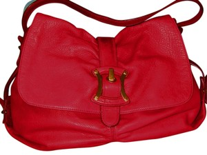 B. Makowsky Super Soft Leather Tote in RED