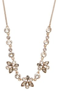 Givenchy Swarovski elements multi color crystals sets in rose gold tone necklace