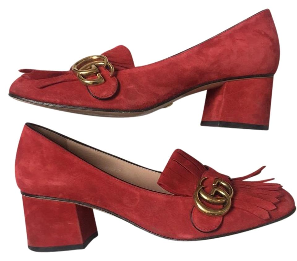 a53c7339a788 Gucci Red Marmont Pumps. Size  US 7.5 Regular (M ...