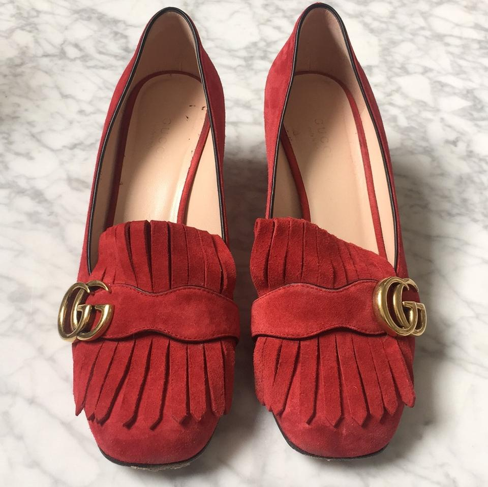 0866bab9f600 Gucci Red Marmont Pumps Size US 7.5 Regular (M