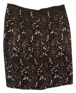 Talbots Pencil Lined Office Skirt Black and cream