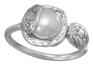 unknown Oxidized Sterling Silver Cultured Freshwater Pearl Ring
