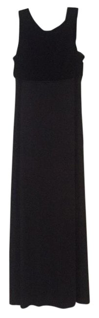 Donna Ricco Black Long Formal Dress Size 8 (M) Donna Ricco Black Long Formal Dress Size 8 (M) Image 1