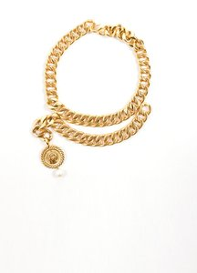 Chanel Chanel Vintage Coco Medallion Chain Necklace
