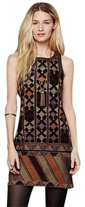 Free People short dress BLACK/MULTI on Tradesy