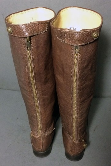Frye 76430 Melissa Button Back Zip Size 6 Brown Boots