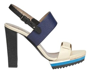 Lanvin Ivory, Blue Sandals