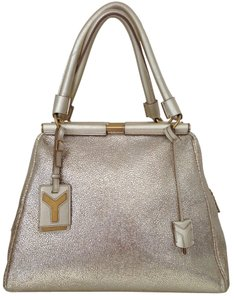 Saint Laurent Yves Tote in pale gold
