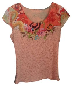 Boutique Top T Shirt Peach brown multi