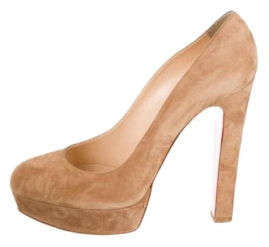 Christian Louboutin Red Bottom Loubs Platforms 42 12 Tan Pumps