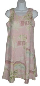 Tommy Bahama short dress Pink Tropical Floral Resort Silk Beach on Tradesy