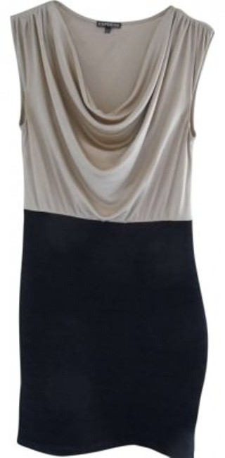 Preload https://img-static.tradesy.com/item/163767/express-light-gold-and-black-above-knee-workoffice-dress-size-10-m-0-0-650-650.jpg
