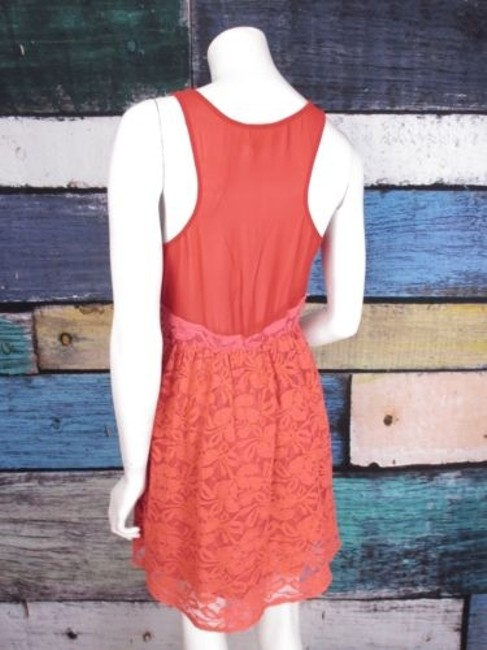 Pins and Needles short dress Orange, Red Urban Outfitters Ombre Lace Natural Wonders on Tradesy