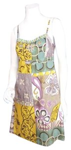 CAbi short dress Yellow, Green, Purple 107 Patchwork Boho Hippie Beaded Embellished Sun 4 on Tradesy