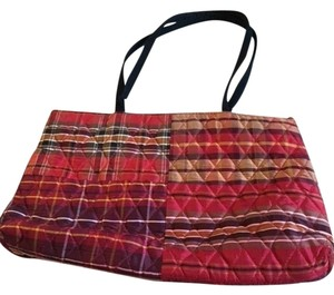 Vera Bradley Tote in Red Plaid