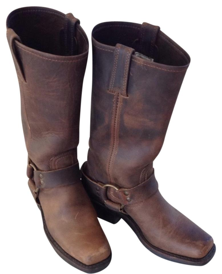 Frye (Brown) Tan (Brown) Frye Harness 12 R Boots/Booties bb7518