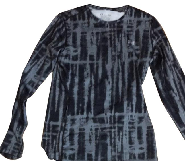Item - Black and Silver Cold Gear Long Sleeve Running Shirt Activewear Top Size 12 (L, 32, 33)
