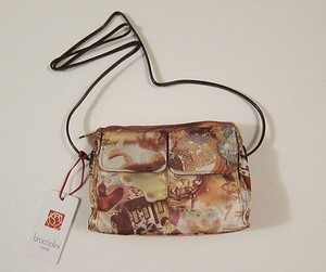 Braccialini Firenze Printed Nylon Messenger Sling Cross Body Bag