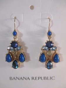 Banana Republic Banana Republic Blue Crystal Teardrop Chandelier Earrings