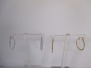 Anthropologie Anthropologie Twisted Hoop Earrings Each Silver Gold Set Of