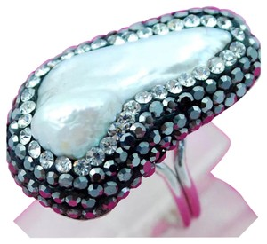 Other New White Pearl 925 Silver Adjustable Sz 7 Turkish Ring