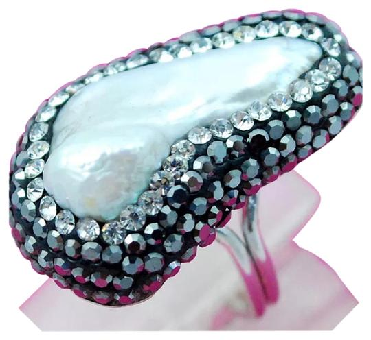 Preload https://img-static.tradesy.com/item/16377349/white-and-925-silver-new-pearl-adjustable-7-turkish-ring-0-1-540-540.jpg