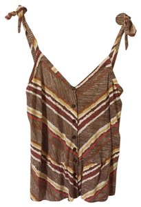 Ella Moss Top Brown/Multi