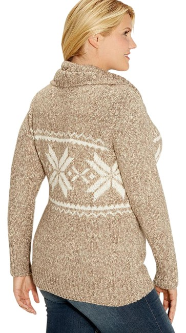 Preload https://img-static.tradesy.com/item/16377517/maurices-sand-brown-white-18-20-tan-neck-nordic-pattern-marled-rib-knit-sweaterpullover-size-20-plus-0-1-650-650.jpg