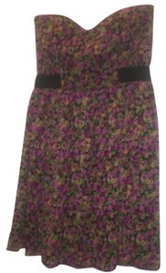 Mystic short dress Purple, burgandy, gold, green on Tradesy