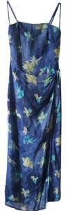 Blue floral print Maxi Dress by Hugo Buscati Wrap Strapless Collection