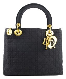 Dior Christian Lady Monogram Tote in black