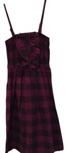 Anthropologie short dress Purple and black on Tradesy